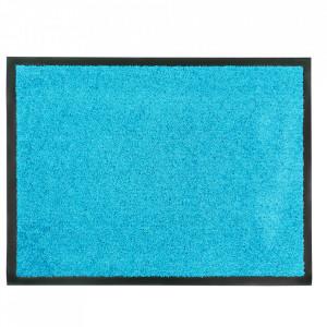 Pres dreptunghiular albastru din poliamida pentru intrare 60x80 cm Continental Lako