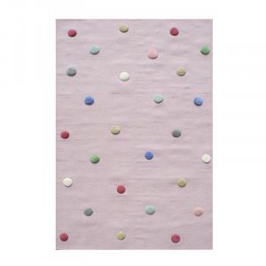 Covor multicolor din lana Colordots Flieder Multi 3D Happy Rugs (diverse dimensiuni)