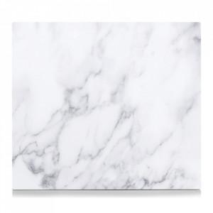 Panou antistropire alb din sticla pentru perete 50x56 cm Marble Zeller