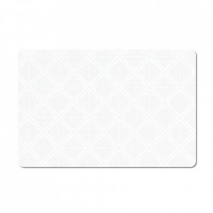 Protectie masa dreptunghiulara alba din plastic 28,5x43,5 cm Bone Zeller