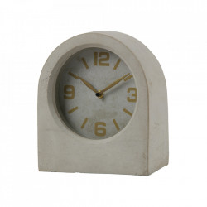 Ceas de masa gri rotund din beton 24 cm Timeless Be Pure Home