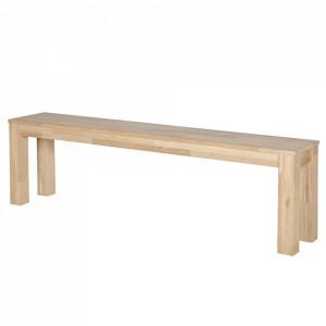 Bancheta maro din lemn de stejar 160 cm Largo Woood