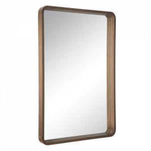 Oglinda dreptunghiulara maro din lemn de paulownia 63x93 cm Matilda Ixia