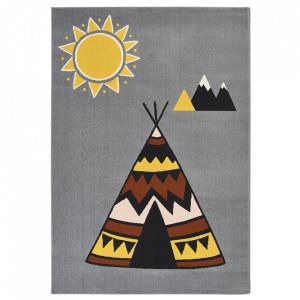 Covor multicolor din polipropilena 120x170 cm Vini Young Wilderness Zala Living