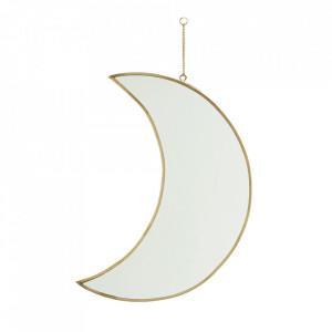 Oglinda aurie din fier si sticla 30 cm Moon Madam Stoltz