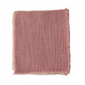 Pled roz din bumbac 130x160 cm Allie Madam Stoltz