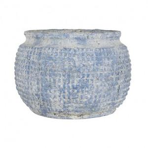 Ghiveci albastru din papier mâché 39 cm Lydia Richmond Interiors