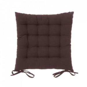 Perna patrata maro ciocolata din poliester si bumbac pentru sezut 40x40 cm Loving Colours Unimasa