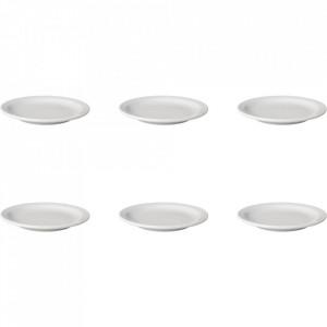 Set 6 farfurii intinse albe din portelan 16 cm Budge Mammoet