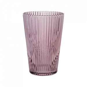 Pahar roz din sticla 7,6x11 cm Flos Bolia