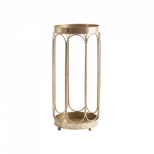 Suport auriu din fier pentru umbrele Damme Vical Home