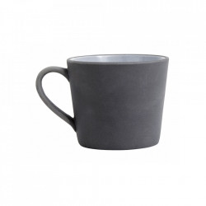 Cana neagra/alba din ceramica 9x10 cm Henrietta Nordal