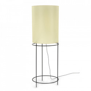 Lampadar negru/bej din fier si hartie 180 cm Rithm Serax