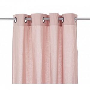 Perdea roz din bumbac 140x280 cm Amy Bizzotto