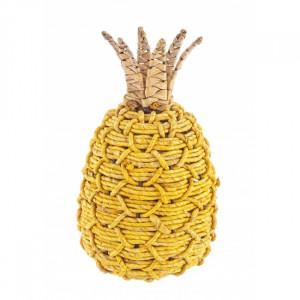 Decoratiune galbena/maro din frunze de porumb 33 cm Guadalupa Bizzotto