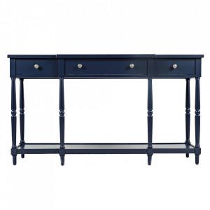 Consola albastra din lemn 152 cm Avola Livin Hill