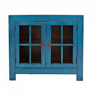 Dulapior albastru din lemn de salcam Avola Livin Hill