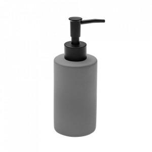 Dispenser sapun lichid gri din ceramica 6,5x17,5 cm Deny Versa Home