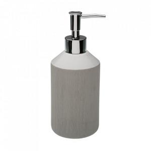 Dispenser sapun lichid gri din ceramica 7,5x19 cm Luana Versa Home