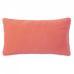 Perna decorativa dreptunghiulara rosu corai din poliester si bumbac 30x50 cm Loving Colours Unimasa