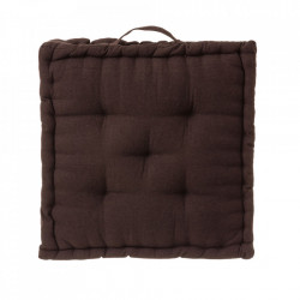 Perna patrata maro ciocolata din poliester si bumbac pentru sezut 45x45 cm Loving Colours Unimasa