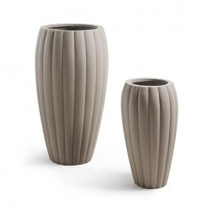 Set 2 vaze din ciment gri Linn La Forma
