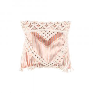 Perna roz din bumbac 40x40 cm Saar Ivory Pink Zuiver