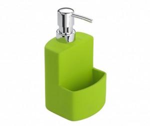Dispenser detergent vase verde din ceramica 380 ml Festival Wenko