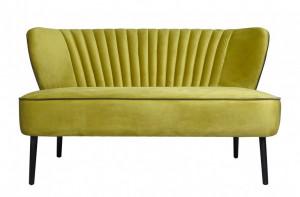 Canapea verde din catifea pentru 2 persoane Twiggy Versmissen