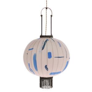 Lustra din lemn de bambus, textil si plastic Lantern Marker M HK Living