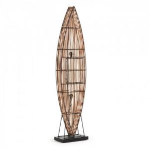 Lampadar din ratan natural 165 cm Columbus La Forma