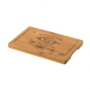Tocator dreptunghiular maro din lemn de bambus 20x30 cm Bistro Unimasa