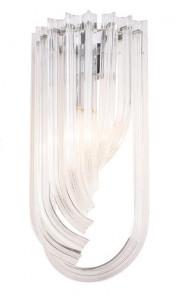 Aplica argintie din metal si sticla Plaza Wall Maxlight