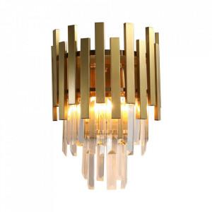 Aplica aurie din cristal si metal Aspen Milagro Lighting