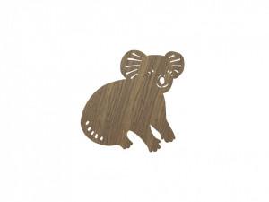 Aplica / Decoratiune luminoasa maro din lemn 30,4x34 cm pentru perete Koala Smoked Oak Ferm Living