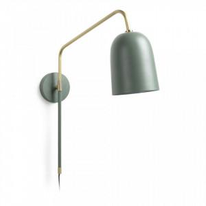 Aplica din metal verde si auriu Audrie Kave Home