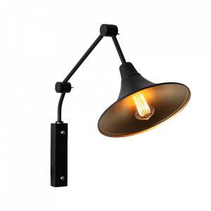 Aplica neagra din metal Miller Custom Form