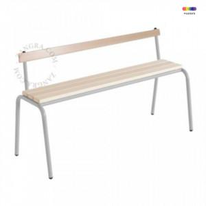 Banca gri/maro din lemn si metal 120 cm Cindy Zangra