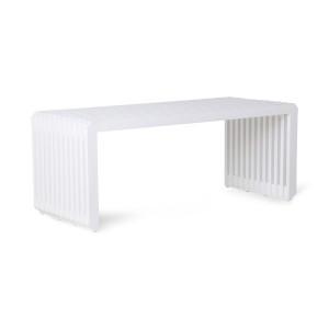 Bancheta alba din lemn de sungkai 96 cm Teri HK Living