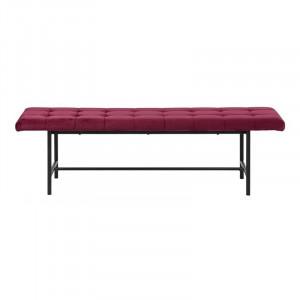Bancheta rosu bordo/neagra din otel si poliester 160 cm Sigfrid Actona Company