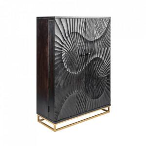 Bar negru/auriu din lemn de mango si metal Scorpion Invicta Interior