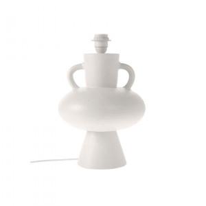 Baza veioza alba din ceramica 38 cm Lampbase White HK Living