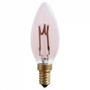Bec maro chihlimbar cu filament LED E14 3,4W Edison Flame Opjet Paris