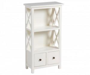 Biblioteca alba din lemn 87 cm Cabinet Santiago Pons