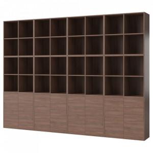 Biblioteca maro nuc din lemn 210 cm Combination Large Bolia