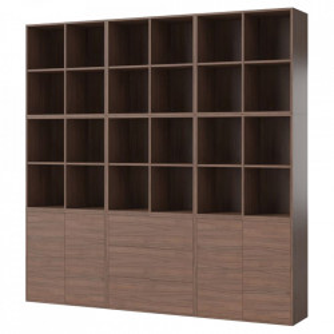 Biblioteca maro nuc din lemn 210 cm Combination Square Bolia
