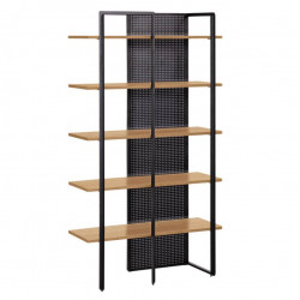 Biblioteca neagra/maro deschis din lemn si metal 180 cm Nadyria La Forma