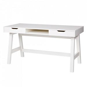 Birou alb din lemn de pin 62x140 cm Nikki Woood