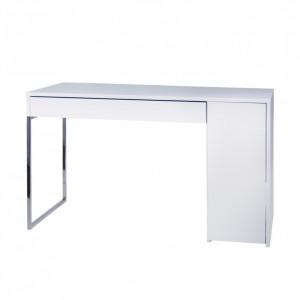 Birou alb din panouri 60x130 cm Prado White Chrome TemaHome