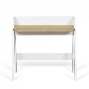 Birou alb/maro din lemn 49x91 cm Fiore TemaHome